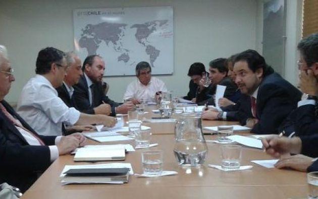 El grupo será recibido el jueves por el ministro de Comercio Exterior de Ecuador, Diego Aulestia. Foto: Twitter / Direcon.