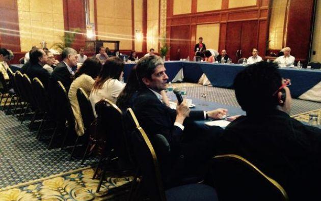 Al menos unos 40 directivos de países latinoamericanos y europeos estuvieron presentes en la primera jornada. Foto: Ecuavisa