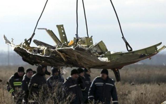 Restos de la aeronave en la región de Donetsk, en el este de Ucrania. Foto: Archivo / REUTERS