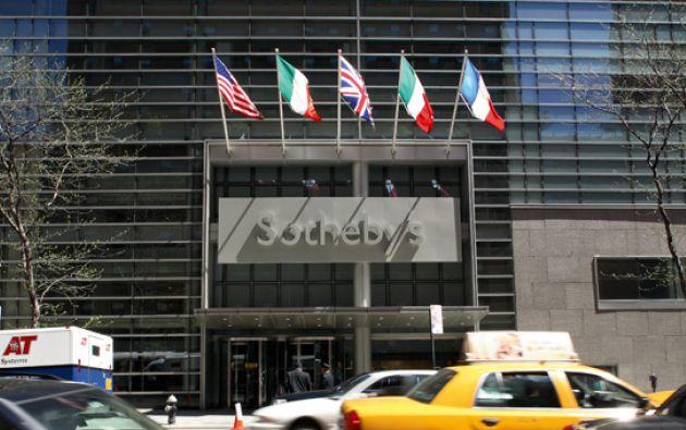 La subasta fue realizada por la casa Sotheby's. Foto: Sotheby's.