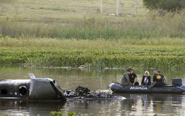 Las autoridades localizaron los cuerpos de los 10 ocupantes de la aeronave. Foto: REUTERS