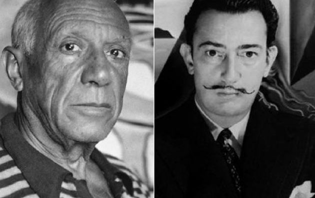 Picasso y Dalí.