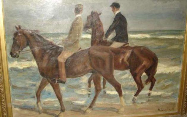 """""""Dos jinetes en la playa"""", de Max Liebermann, perteneció a la familia del coleccionista judío David Friedmann."""