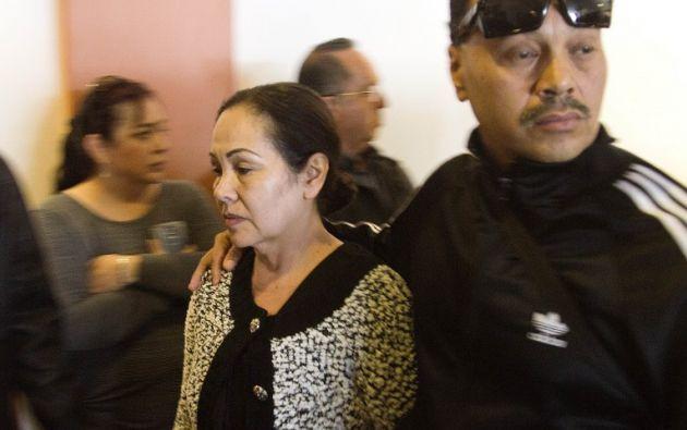 Madre del luchador, Luz Ramírez. Foto: AFP