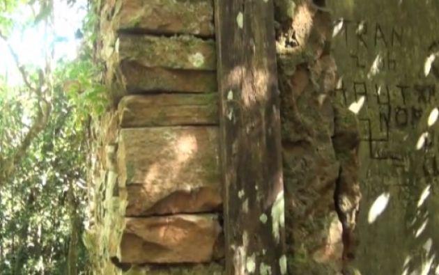 Las ruinas están ubicadas en el Parque Nacional Teyú Cuaré, al sudeste de Misiones. Fotos: Captura de pantalla.