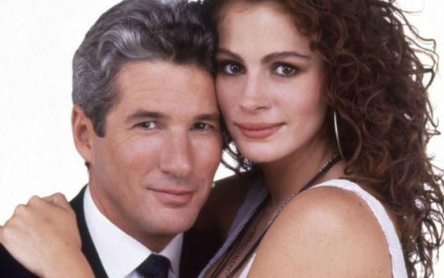 """La química entre Julia Roberts y Richard Gere en """"Pretty Woman"""" funcionó a pesar de la diferencia de edad (18 años)."""