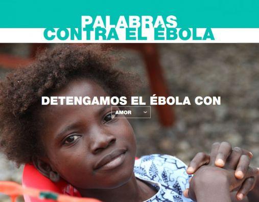 """La campaña mundial """"Palabras contra el Ébola"""" busca informar y sensibilizar mejor a las poblaciones sobre esta enfermedad."""