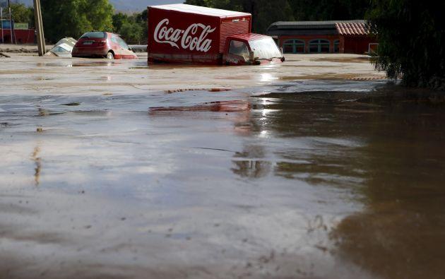 La ciudad de Copiapó también se ha visto afectada por las fuertes lluvias. Fotos: REUTERS.