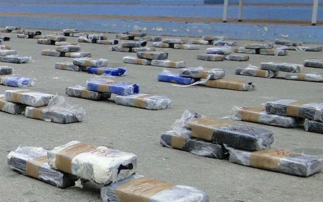 Con la incautación en el puerto de Guayaquil, los decomisos de droga en el primer trimestre de 2015 suman 16 toneladas.