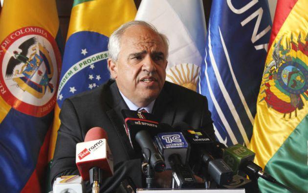 """""""Un buen punto de la nueva agenda de relaciones (en el continente) sería que no haya bases militares norteamericanas"""" en Suramérica, dice Samper."""
