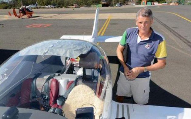 Guilloud cumplía su proyecto de recorrer una parte del mundo en 20 meses. Foto: Aviación Civil.
