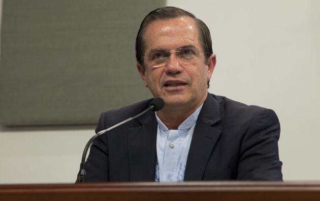 """Ricardo Patiño, consideró """"muy poco factible"""" un diálogo con la Comisión Interamericana, por considerar que mantiene un claro """"sesgo político""""."""