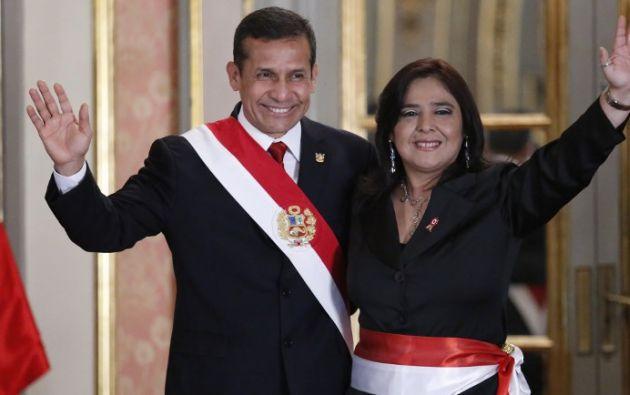 Ollanta Humala y Ana Jara. Foto: AFP