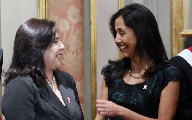 Jara y Nadine Heredia. Foto: AFP