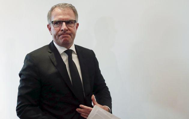 El presidente de Lufthansa, Carsten Spohr, que el miércoles acudirá a proximidad del lugar del drama para rendir homenaje a los equipos que trabajan sobre el terreno. Foto: REUTERS.