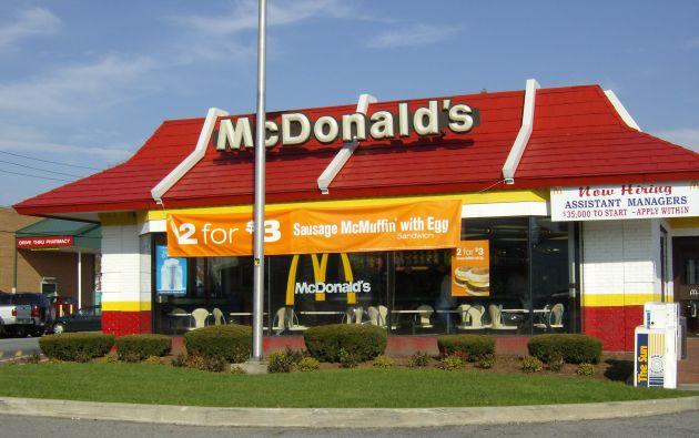 La medida fue tomada por McDonald's por presión de los sindicatos. Foto: McDonald's.