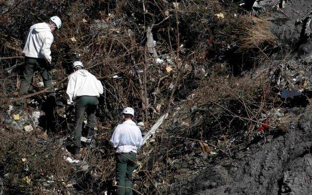 El nuevo dato refuerza las sospechas de que el copiloto actuó premeditadamente para estrellar el avión. Foto: REUTERS