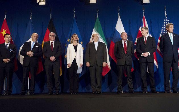 Delegados de Irán y del Grupo 5+1 durante las conversaciones nucleares en Lausana. Foto: REUTERS