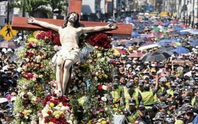 Procesión del Cristo del Consuelo en el sur de la ciudad. Foto: Wikimedia Commons.