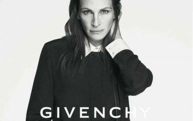 La oscarizada Julia Roberts (47 años) es el rostro de Givenchy.