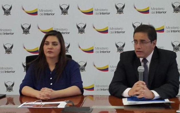 Argüello explicó que las investigaciones se realizaron durante un mes. Foto: Twitter / Policía Ecuador