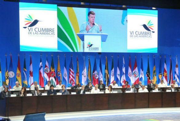 """La Cumbre de las Américas (Cartagena, 2012) concluyó sin declaración final """"por falta de consenso""""."""