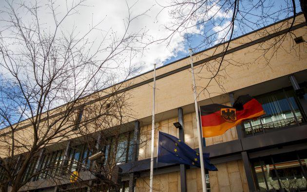 Una toma de los exteriores de la embajada de Alemania en Madrid. Foto: Archivo / REUTERS.