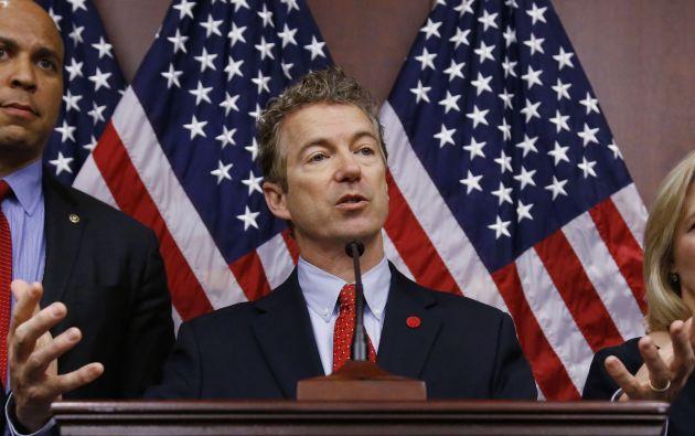 Rand Paul es el segundo republicano en anunciar formalmente su intención de competir por la candidatura presidencial de su partido después del también senador Ted Cruz (Texas). Fotos: Archivo / REUTERS.