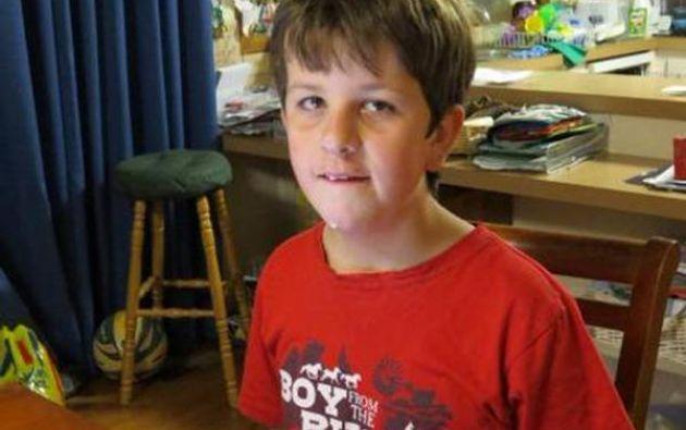 Luke Shambrook tiene 11 años y es paciente de autismo. Foto: Victoria Police.