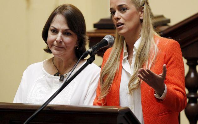 Mitzy Capriles y Lilian Tintori participarán en actividades organizadas en el marco de la VII Cumbre de las Américas. Foto: REUTERS