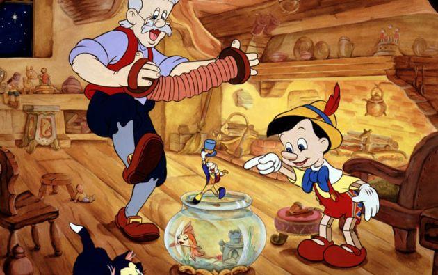 """El clásico de Disney """"Pinocho"""" de 1940 se basó en el libro infantil de Carlo Collodi, editado en 1883."""