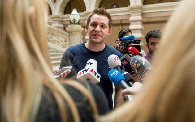 El activista Max Schrems está liderando esta demanda colectiva. Foto: AFP.
