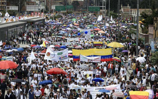 Los organizadores mostraron su esperanza de lograr unos 300.000 participantes en las marchas. Foto: REUTERS