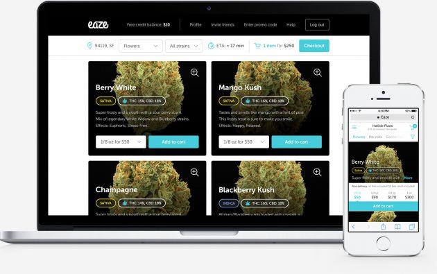 Eaze asegura que desde su lanzamiento el año pasado ha facilitado alrededor de 30.000 entregas de marihuana medicinal.