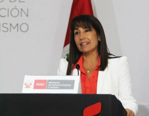 La ministra Magali Silva indicó que Perú presentó un informe a la SGCAN con argumentos técnico-legales que sustentan las razones por las que no se debería autorizar la extensión de la salvaguardia ecuatoriana a los miembros de este bloque. Foto: Mincetur Perú