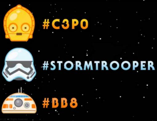 """Los tres primeros emoticones fueron presentados durante el """"Star Wars Celebration""""."""