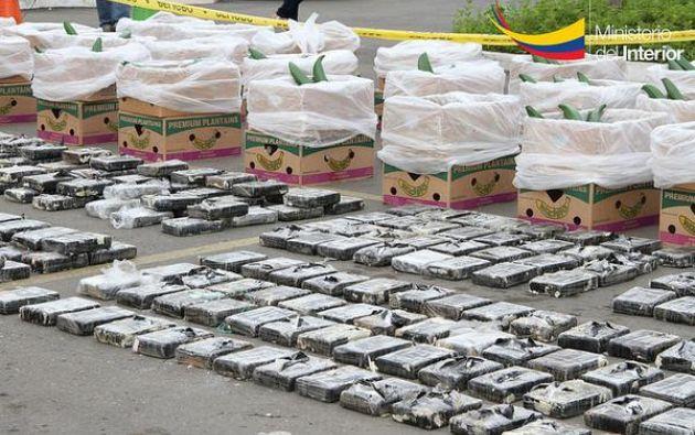 Del total de alcaloide aprehendido, 2,71 toneladas eran cocaína, 1,34 kilos heroína y 473 kilos marihuana. Fotos: Ministerio del Interior.