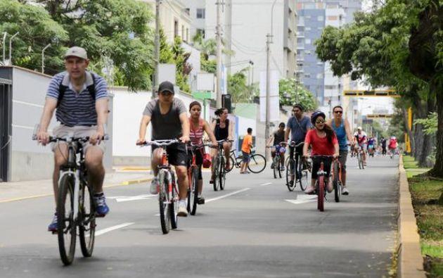 Durante la actividad, la municipalidad inaugurará las nuevas ciclovías del distrito en las avenidas Dos de Mayo, Jorge Basadre, Cavenecia, Del Parque Norte y Carriquiry. Foto: Municipio de Lima