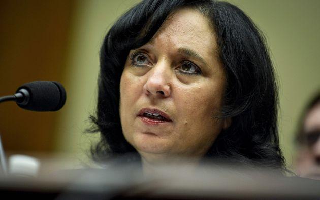 Leonhart cuando testificó ante el omité de Supervisión de la Cámara de Representantes. Foto: REUTERS.