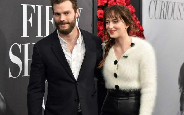 Dakota Johnson y Jamie Dornan confirmaron que repetirán como Anastasia Steele y Christian Grey. Foto: AFP