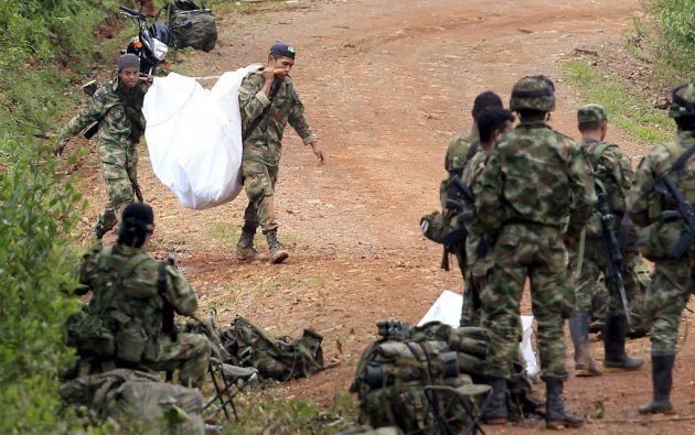 Un ataque de las FARC en el Cauca (suroeste de Colombia) dejó 11 militares muertos. Foto: REUTERS