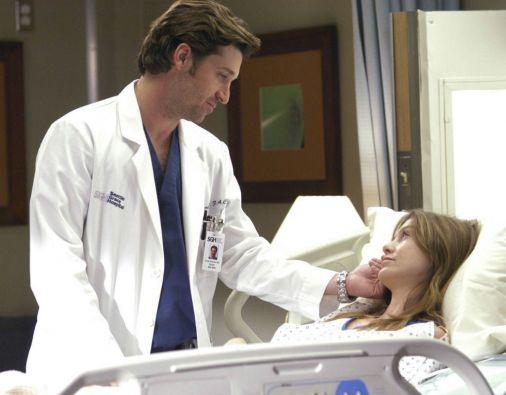 """Patrick Dempsey y Ellen Pompeo, actores principales de la popular serie """"Grey's Anatomy""""."""