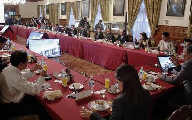 a próxima reunión con el presidente Correa será el 23 de octubre. Foto: Flickr / Presidencia Ecuador.