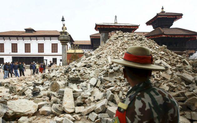 Desde el terremoto de 7,8° se han producido 35 réplicas, aunque la de 6,7° es la más fuerte de todas las registradas. Foto: REUTERS