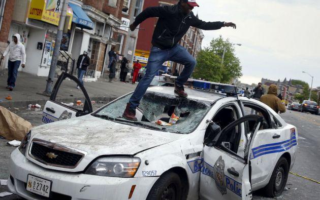 Baltimore es el último foco de disturbios protagonizados tras varios episodios mortales de violencia policial contra jóvenes negros en EE.UU. Foto: REUTERS