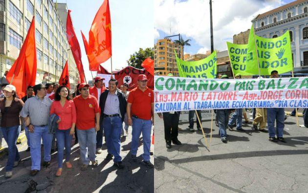 Los trayectos de las marchas están confirmados: la del FUT saldrá desde la Caja del Seguro hacia la Plaza de San Francisco y la oficialista desde el sur de Quito hasta la Plaza Santo Domingo. Fotos: Archivo Vistazo