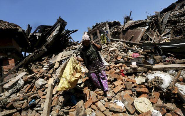 El terremoto ocurrido en Nepal este fin de semana dejó más de 4.000 muertos. Foto: REUTERS.