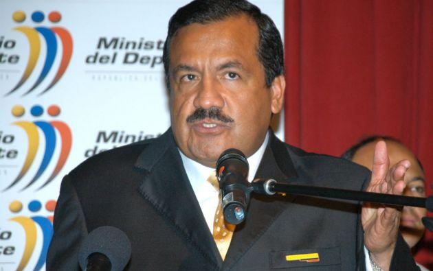 Raúl Carrión, exministro del Deporte. Foto: Presidencia de Ecuador