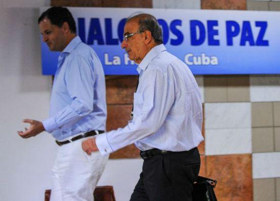 El jefe de la delegación del gobierno colombiano a las conversaciones de paz, Humberto de la Calle. Foto: AFP