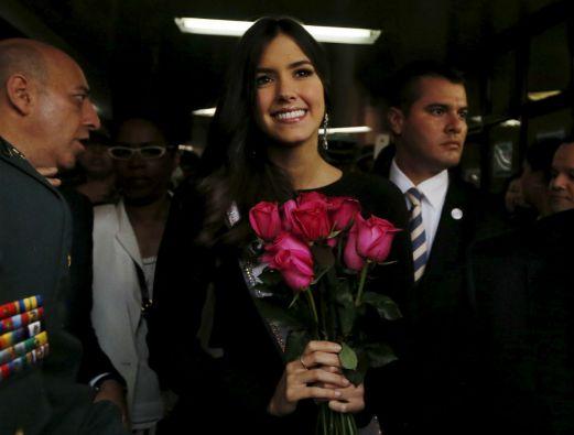 """Paulina Vega destacó que en su papel de Miss Universo ayuda a mostrar """"el lado positivo de Colombia"""". Foto: REUTERS"""